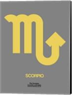 Scorpio Zodiac Sign Yellow on Grey Fine-Art Print