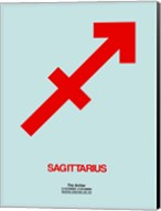 Sagittarius Zodiac Sign Red Fine-Art Print