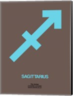 Sagittarius Zodiac Sign Blue Fine-Art Print