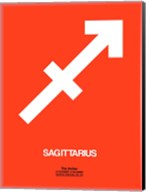 Sagittarius Zodiac Sign White on Orange Fine-Art Print