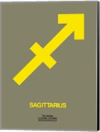 Sagittarius Zodiac Sign Yellow Fine-Art Print