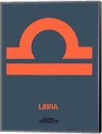 Libra Zodiac Sign Orange Fine-Art Print