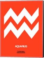 Aquarius Zodiac Sign White on Orange Fine-Art Print