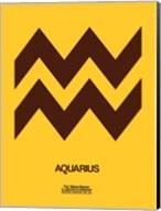 Aquarius Zodiac Sign Brown Fine-Art Print