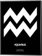 Aquarius Zodiac Sign White Fine-Art Print