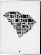 South Carolina Word Cloud 1 Fine-Art Print