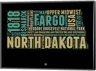 North Dakota Word Cloud 1 Fine-Art Print
