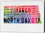 North Dakota Watercolor Word Cloud Fine-Art Print