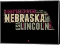 Nebraska Word Cloud 1 Fine-Art Print