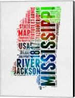 Mississippi Watercolor Word Cloud Fine-Art Print