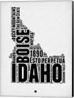 Idaho Word Cloud 2 Fine-Art Print