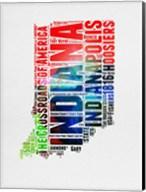 Indiana Watercolor Word Cloud Fine-Art Print