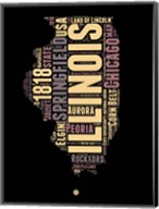Illinois Word Cloud 1 Fine-Art Print