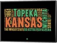 Kansas Word Cloud 1 Fine-Art Print
