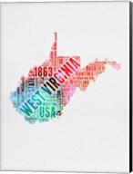 West Virginia Watercolor Word Cloud Fine-Art Print