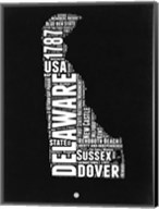 Delaware Black and White Map Fine-Art Print