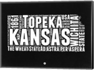 Kansas Black and White Map Fine-Art Print
