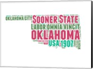 Oklahoma Word Cloud Map Fine-Art Print