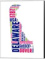 Delaware Word Cloud Map Fine-Art Print