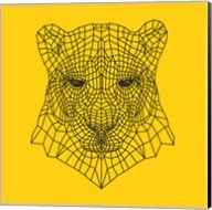 Panther Head Yellow Mesh Fine-Art Print
