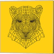Panther Head Yellow Mesh Fine-Art Print