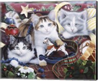 Christmas Kittens And All The Trim'Ns Fine-Art Print