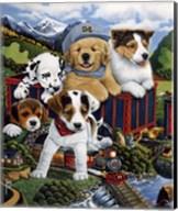 Choo Choo Puppies Fine-Art Print