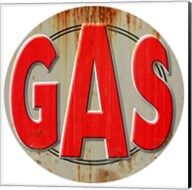 Gas Distressed Fine-Art Print