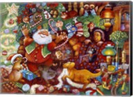 Santa Rejoicing Fine-Art Print