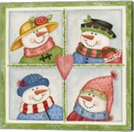 Four Snowmen Fine-Art Print