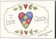 I Love Quilts Fine-Art Print