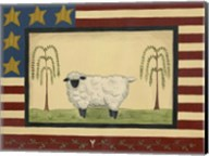 Sheep With Flag Border Fine-Art Print