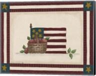 Flag With Basket Of Apples Fine-Art Print