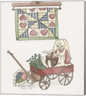 Bunny In Wagon Fine-Art Print