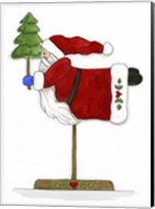 Santa On A Stick Fine-Art Print