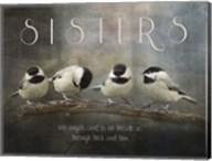Sisters Chickadees Fine-Art Print