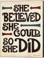 She Believed Fine-Art Print