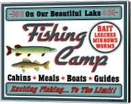 Our Lake Fishing Camp Fine-Art Print