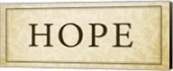Hope Plaque Fine-Art Print