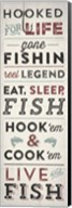 Fishing Typography Fine-Art Print