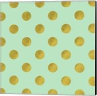 Golden Mint Dots Fine-Art Print
