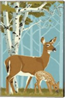 Deer with Fawn Fine-Art Print