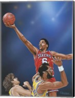 Dr. J Going to the Rim Fine-Art Print