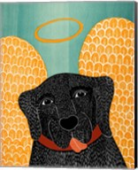Angel Dog Black Fine-Art Print
