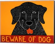 Beware of Dog Black Fine-Art Print