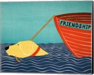 Boat Friendship Yellow Fine-Art Print