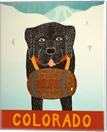 Colorado Beer Dog Black Fine-Art Print