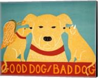 Good Dog Bad Dog Yellow Fine-Art Print