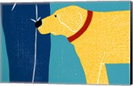 Greeting Visitors Bad Dog Yellow Fine-Art Print
