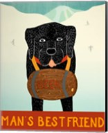 Mans Best Friend Black Fine-Art Print
